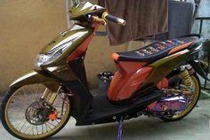Mitsubishi Pajero, Kawasaki Ninja, Yamaha, Honda, Bike, Vehicles, Airbrush, Motorcycles, Brown