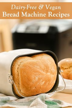Dairy-Free Bread Machine Recipes - a round up of everyday loaves for your breadmaker. Vegan-friendly, nut-free, and soy-free. Dairy Free Bread Machine Recipe, Bread Machine Recipes Healthy, Bread Maker Recipes, Allergy Free Recipes, Breadmaker Bread Recipes, Vegan Recipes, Soup Recipes, Dinner Recipes, Wheat Free Bread