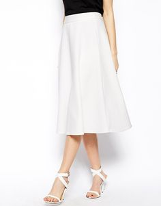 Pin for Later: Beat the Heat With 99 Cool-Girl Style Finds — All Under $100 ASOS Midi Skirt A crisp white midi skirt ($77) goes a long way.