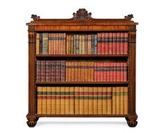 A George III mahogany dwarf open bookcase, circa 1800, in the manner of Gillows; with two adjustable shelves - Dim: 106.5cm. high, 108.5cm. wide, 36.5cm. deep; 3ft. 6in., 3ft. 6¾in., 1ft. 2¼in.