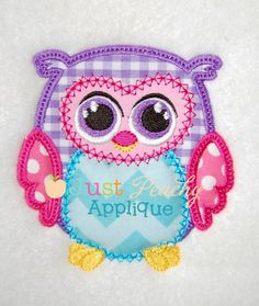 Vintage Owl 3 Applique Design