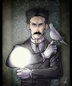 Estupendo dibujo de #Tesla hecho por la compañera tesliana @IsaraMiau ¡Muchas gracias por compartirlo, es buenísimo! :D