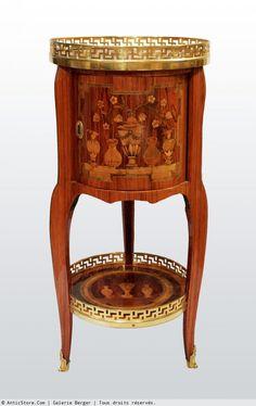 """Petite Table Chiffonnière """"en tambour"""""""