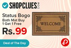 Shopclues #DealoftheDay is offering Status Bogo Floor Bath Mat #Buy1Get1Free Just Rs.99. Shopclues Coupon Code – SCASOPF116  http://www.paisebachaoindia.com/status-bogo-floor-bath-mat-buy-1-get-1-free-just-rs-99-shopclues/