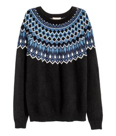 Jacquard-knit Sweater | Warm in H&M