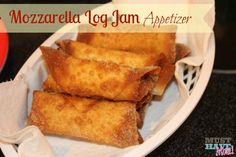 Mozzarella Log Jam Appetizer Recipe - These sound so easy and my family loves Cheese Sticks so we may have to give these a try!