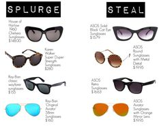Sunglasses: Splurge / Steal | MariaOnPoint
