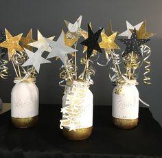 Mason jars DIY, Twinkle twinkle little star theme