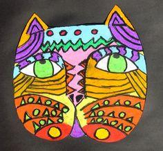 Laurel Burch Cat Faces- Artsonia Art Museum :: Artwork by Shannon2938