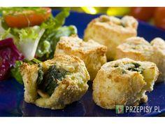 Krokiety ziemniaczano szpinakowe z serem feta