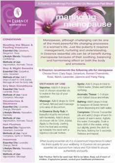 menopause essential oils
