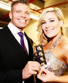 Tyson Kidd & Natalya at the WWE Hall of Fame Ceremony Smoothie King Center, Wwe Raw And Smackdown, Hitman Hart, Theodore James, Wwe Couples, Tyson Kidd, Watch Wrestling, Wwe Female Wrestlers, Rhyme And Reason