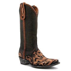 "Old Gringo 13"" Chocolate Sonia Tooled Boot at Maverick Western Wear"