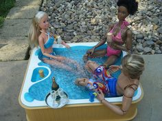 This is actually a Bratz hot tub but I couldn't resist it. Check out Nichelle's super ripped physique! She's Blaine's personal trainer.   Inspiring, Great Picture, Great Picture, {also|by the way|if yo