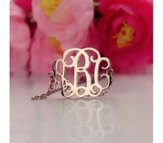 Personalized Rose Gold Plated Silver 925 Monogram Name Bracelet RPNB9