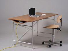 Christofer Odmark Industrial Style Desk - Home Decorating Trends - Homedit Computer Desk Design, Industrial Style Desk, Smart Desk, Cool Office, Stylish Office, Gadgets, Simple Desk, Home Desk, Cool Chairs