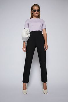 HIGH WAIST SLIM TROUSER – Scanlan Theodore Slim Waist, High Waist, Scanlan Theodore, Project 333, Slim Legs, Trousers, Pants, Online Purchase, Body Measurements