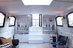 Bert's Barges - Lyris. Livingroom #easyguide #travel #hotel #uk #barge #design #accomodation
