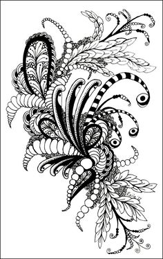 tangle... love this abstract pen drawing stuff... i did alot of it in my younger days.... this is someone elses work.