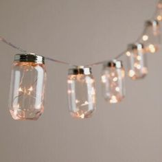 Mason Jar Firefly 10 Bulb Battery Operated String Lights