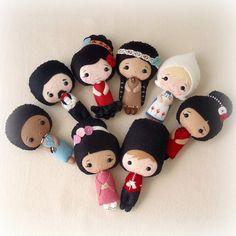 international dolls by Gingermelon, via Flickr