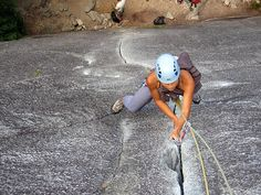 Exasperator -- my favorite climb in Squamish, B.C. Photo of an unknown climber, by Patrick Cadieux.