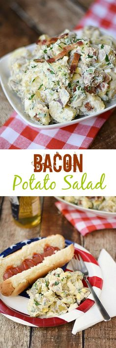 No picnic or potluck is complete without this delicious Bacon Potato Salad   cookingwithcurls.com