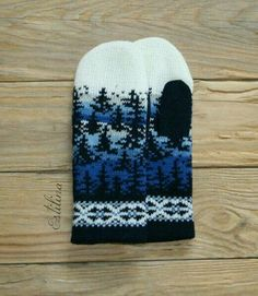 from Anna Linde Knitted Mittens Pattern, Knit Mittens, Knitted Gloves, Knitting Socks, Knitting Charts, Knitting Patterns, Knitting Projects, Crochet Patterns, Norwegian Knitting