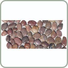 Polished Auburn Pebble Tile Border $5.50/pc.