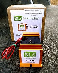 I added a Battery Life Saver to my golf cart to extend the life of my batteries - click on the picture to find out why.