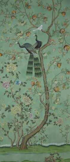 12 Classic Wallpaper Designs: Our All-Time Favorite Wallpaper Patterns - Architectural Digest Degournay . Chinese Wallpaper, Of Wallpaper, Designer Wallpaper, De Gournay Wallpaper, Oriental Wallpaper, Painting Wallpaper, Art Nouveau Wallpaper, Vintage Wallpaper Patterns, Pattern Wallpaper
