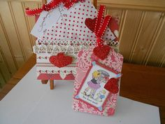 Valentine Card and Tag by BarbarasNook on Etsy
