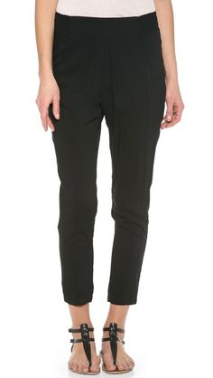 stylish pants with an elastic waistband? who knew?! Knot Sisters Canyon Pants $73