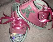Custom Converse Infant Crib Shoe Pink Chuck Taylor with Swarovski