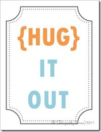 BABY ROOM SIGNS: you can never have too many hugs :-)