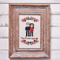 I love getting requests for wedding gifts. Every cross-stitch gift is special, but knowing these are opened on such a special day is a real honour. Congrats Pomeroy's!