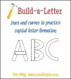 Printable shapes to practice capital letter formation.  Great center activity!