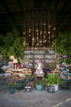 Decoração de casamento no campo - Mesa de doces - boho rústico chic ( Decoração…