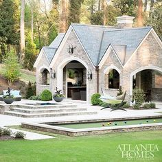 Now that's a pool house! Via @atlantahomesmag ... End of the day! Breathe out! Do you ever get to the end of an action p...
