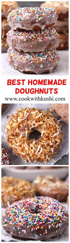 Ever since I have tried making this recipe, my family is craving for these donuts every single day. The best homemade doughnuts that I have ever had ! Best Homemade Doughnut Recipe, Donut Recipes, Baking Recipes, Pastry Recipes, Köstliche Desserts, Delicious Desserts, Dessert Recipes, Yummy Food, Savory Breakfast