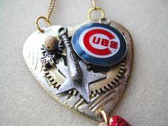 Cubs Baseball Necklace