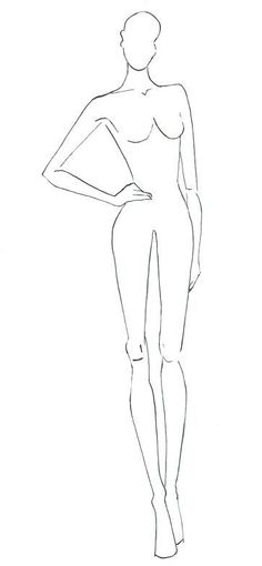 Mannequin Template for Fashion Design Inspirational 9 Head Croquis by Namita Seksaria at Coroflot Illustration Tutorial, Fashion Illustration Template, Illustration Mode, Design Illustrations, Fashion Illustrations, Fashion Figure Templates, Fashion Design Template, Design Templates, Fashion Sketch Template