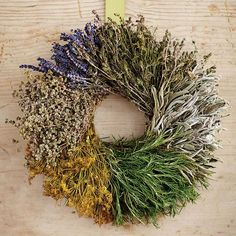 An Herb Wreath. haven't seen this before