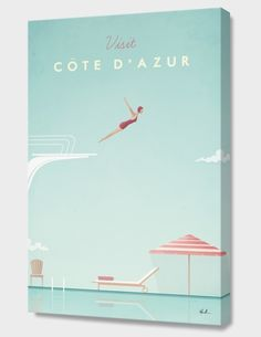"""Cote d'Azur"", Numbered Edition Canvas Print by Henry Rivers - From $69.00 - Curioos"