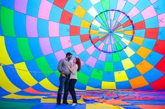 Susan & Senthil | Hot Air Balloon Engagement Photos | Westminster, MD  OMG! A hot air balloon engagement session! How awesome!