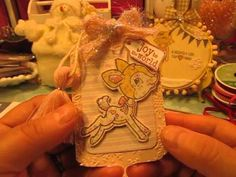 "Your Next Stamp ""Oh Deer"" Shabby Chic Christmas Tags by Jill"