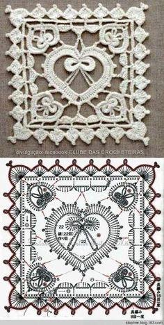 Transcendent Crochet a Solid Granny Square Ideas. Inconceivable Crochet a Solid Granny Square Ideas. Crochet Diy, Filet Crochet, Thread Crochet, Irish Crochet, Crochet Doilies, Crochet Ideas, Point Granny Au Crochet, Granny Square Crochet Pattern, Crochet Diagram