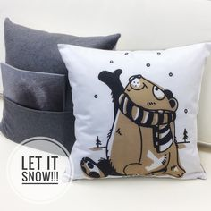 Let it snow. and stay cosy at home snuggled with the Northern Friends throw pillows from AniZetDesigns! Six for you to discover via Anizet's site or Anizet's Etsy store. Handmade Pillows, Decorative Pillows, Accent Pillows, Throw Pillows, Let It Snow, Cozy Cottage, Snuggles, Cosy, Etsy Store