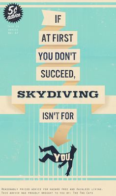 Skydiving = let's all smile today.  we're all pinning to perfection!