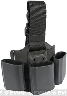 Tactical Hard Shell Drop Leg Quick Draw Triple Magazine Carrier - M4/M16, Accessories & Parts, Airsoft Gun Magazines, Magazine Accessories -...